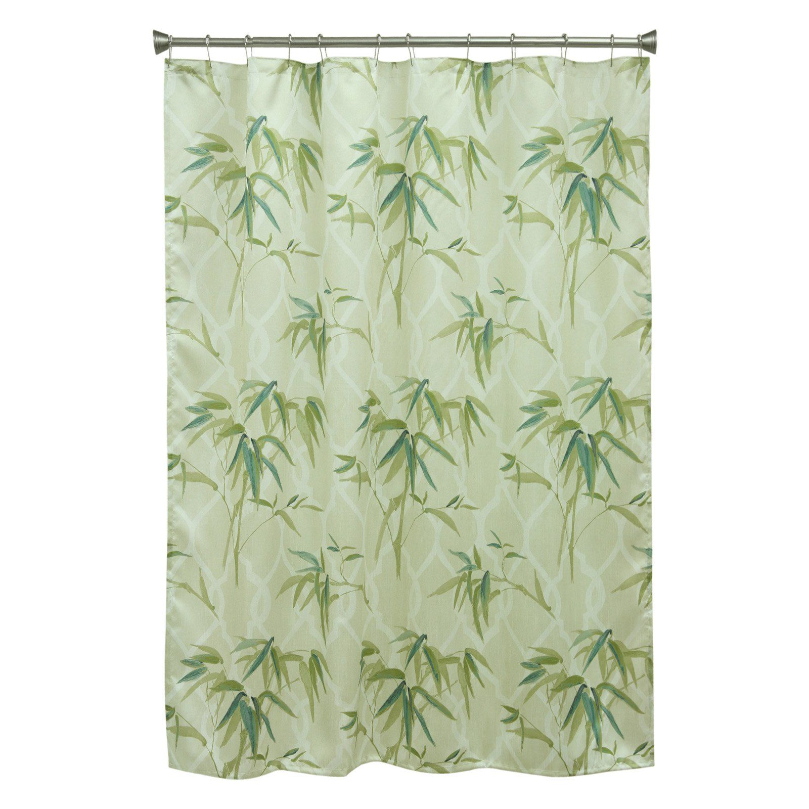 Bacova Zen Bamboo Shower Curtain Curtains Patterned Shower Curtain