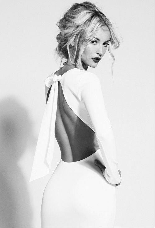 Immagine di fashion, dress, and white