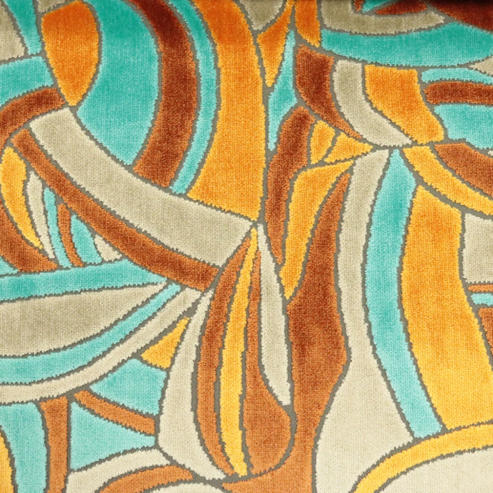Crescent - Modern Pattern Cut Velvet Upholstery Fabric by the Yard - Available in 9 Colors #velvetupholsteryfabric