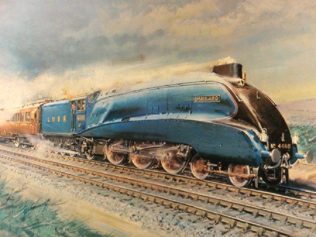 MALLARD Steam Train Locomotive Art Print Picture Present Grandad Dad Uncle
