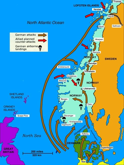 The 1940 Norway Campaign | WWII & Norway | Pinterest | Wwii, WW2 and ...