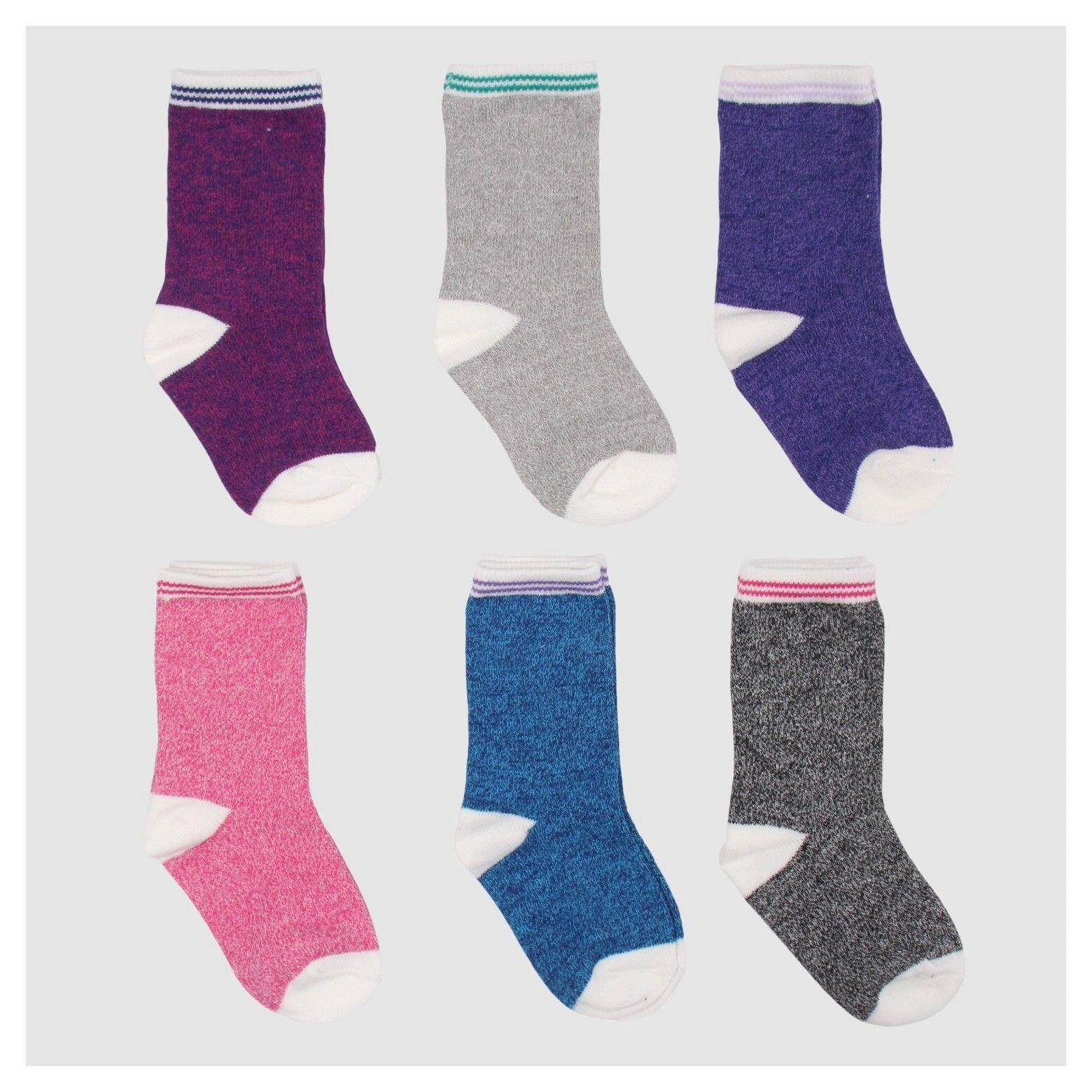 Cat & Jack Baby Girls 6pc Dress Sock Set Heather Purple