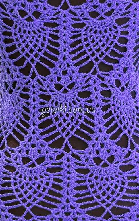 Patrón de crochet Piña búhos. El esquema de tejido de punto   puntos ...