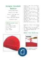 Crochet Beanie Single Crochet