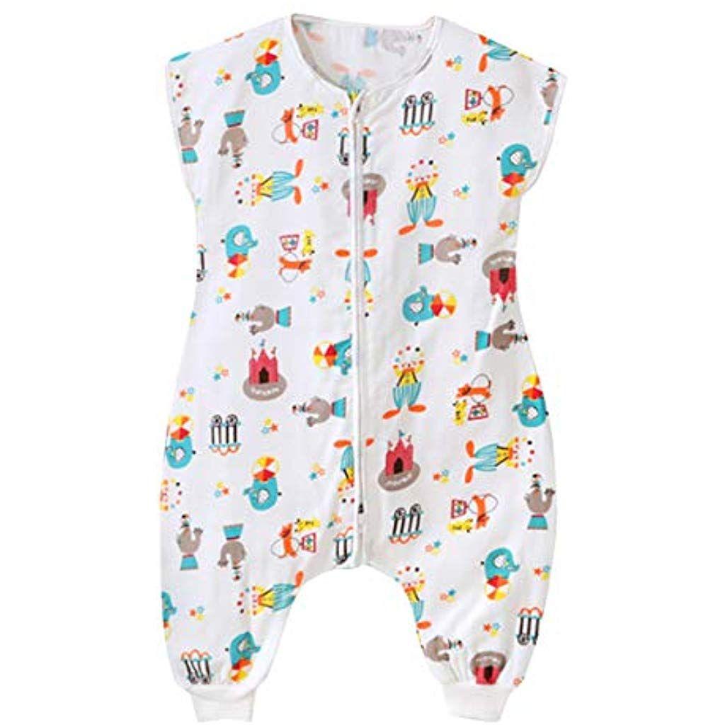 c112e335011f7 Feoya Gigoteuse à Pied Bébé Manches Courtes Combinaison Fille Garçon  Douillette Coton Pyjama Sac de Couchage