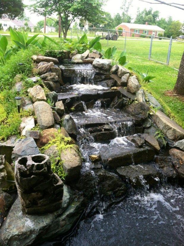 26 Amazing Garden Waterfall Ideas Espejo de agua Pinterest