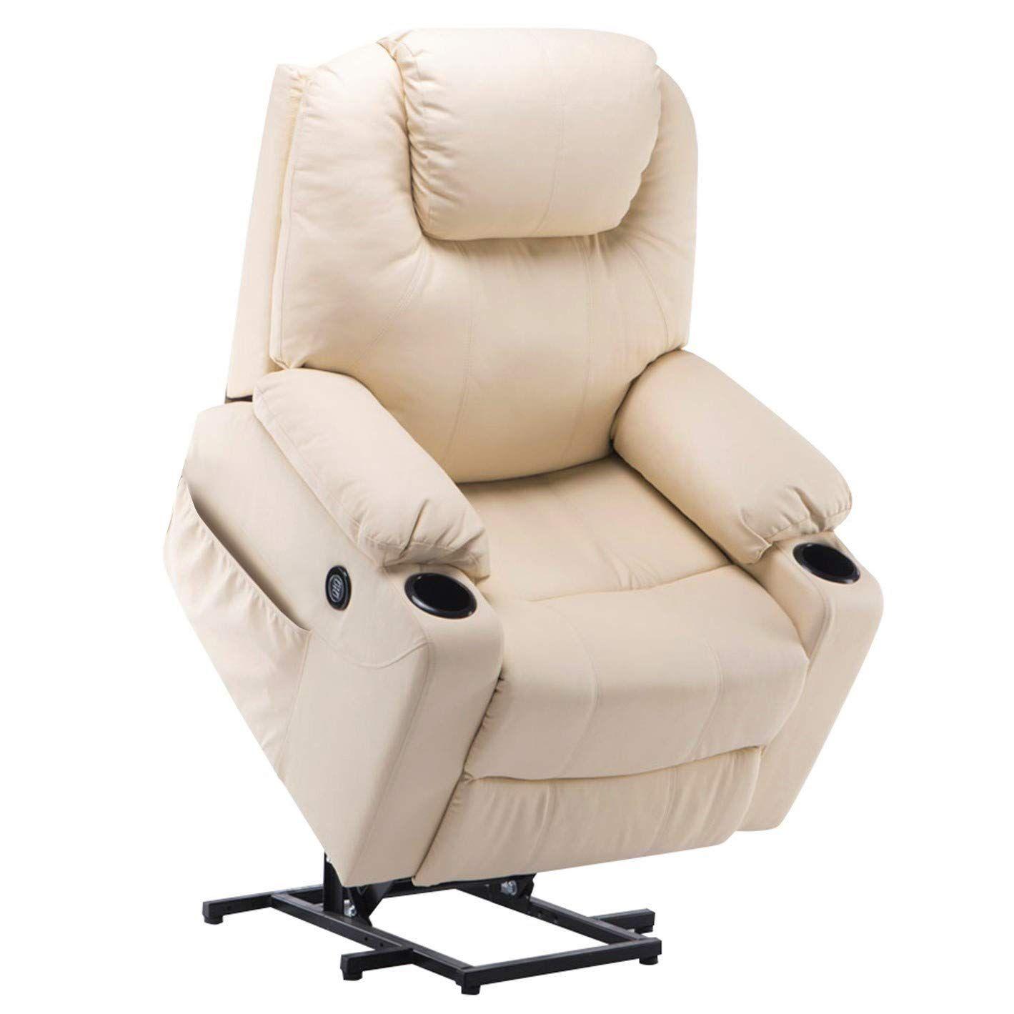 Outstanding Mcombo Electric Power Lift Massage Sofa Recliner Heated Sofa Short Links Chair Design For Home Short Linksinfo
