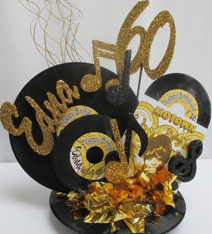 Motown Record Centerpiece 60 70 Party Favors Elvis