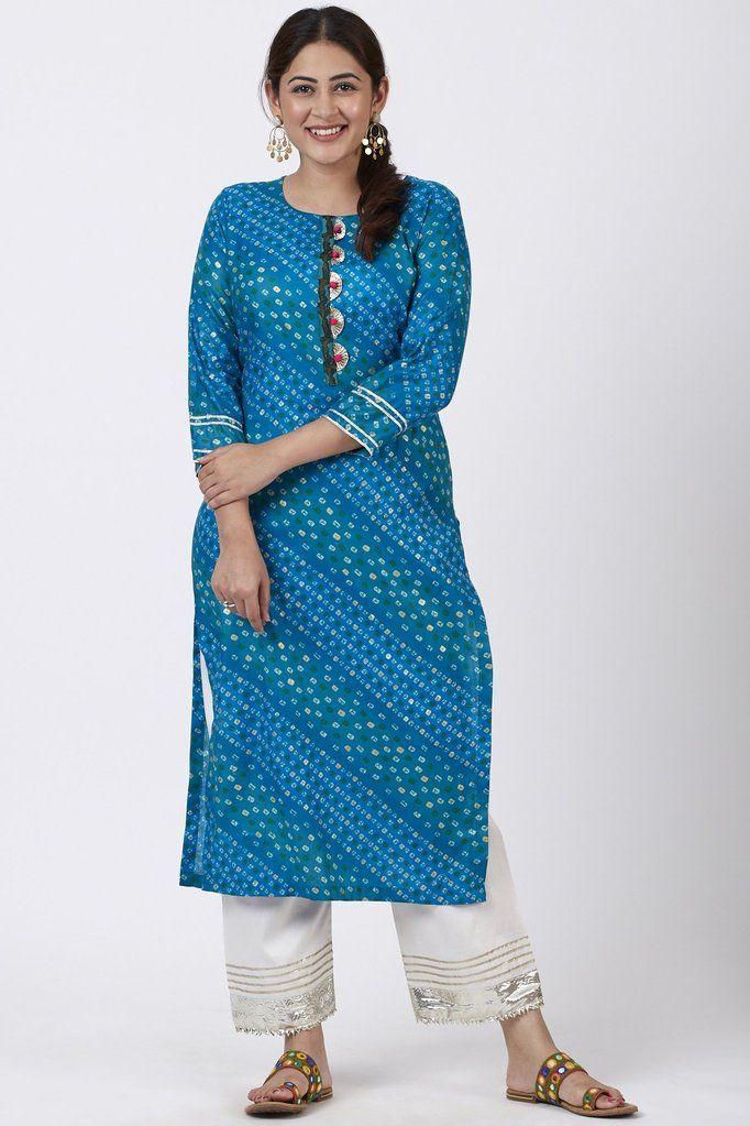 Details about  /Kurti Womens Chanderi Silk Kurta With Digital Printed Sleeve less Traditional