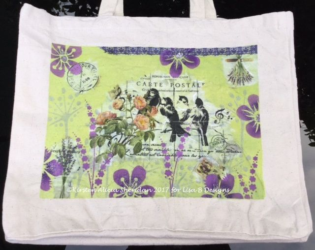 Canvas Tote Bag Imagination Crafts Rice Papers And Textile Starlights Paint Deco Art Sosoft Fabric Paint Paper Art Craft Rice Paper Fabric Paint