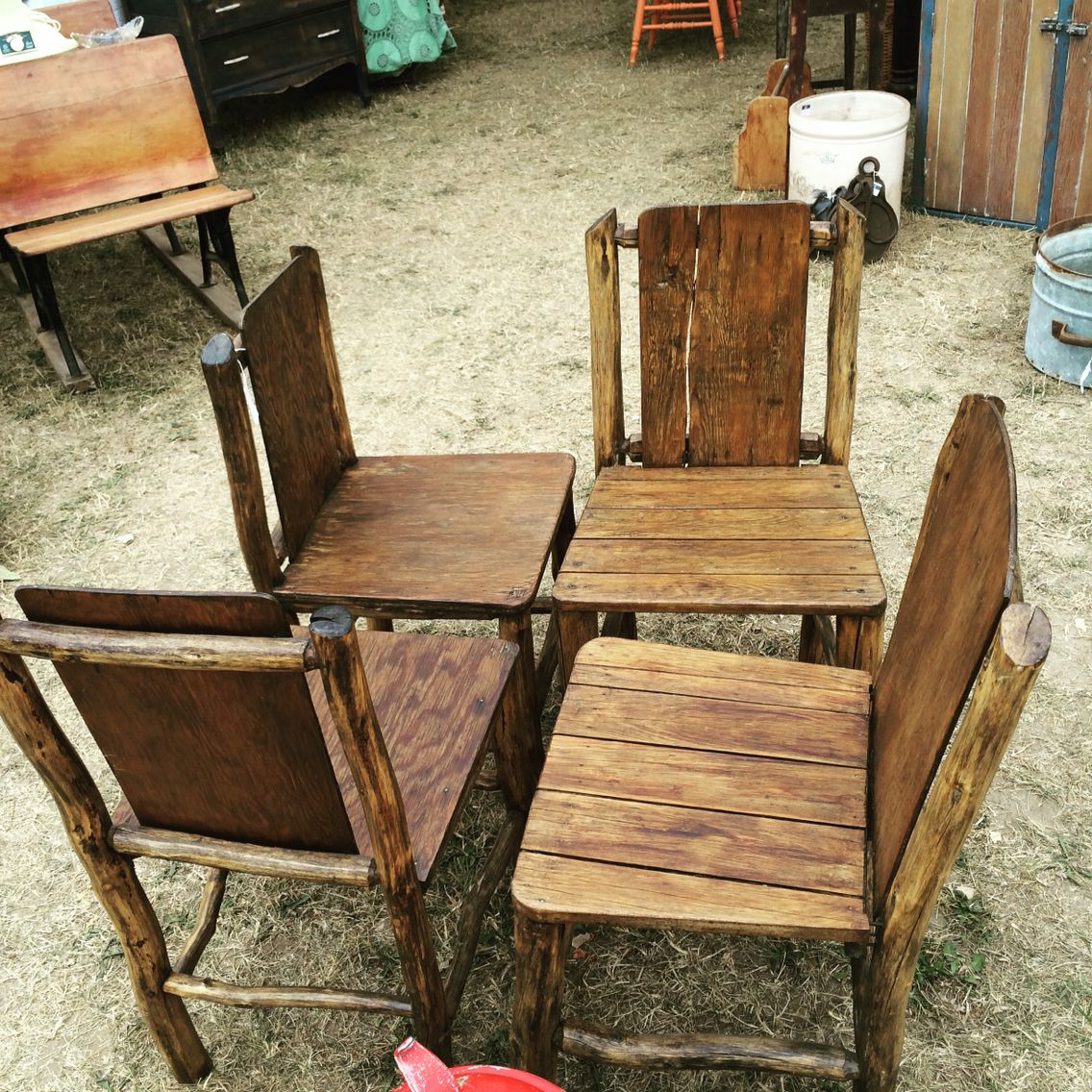 EverythingRE 1930\' Temagami hunt camp hand crafted birch deck chairs ...