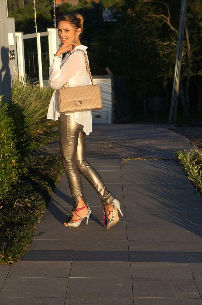 Aline Gregio, Jimmy Choo, Chanel, Leather