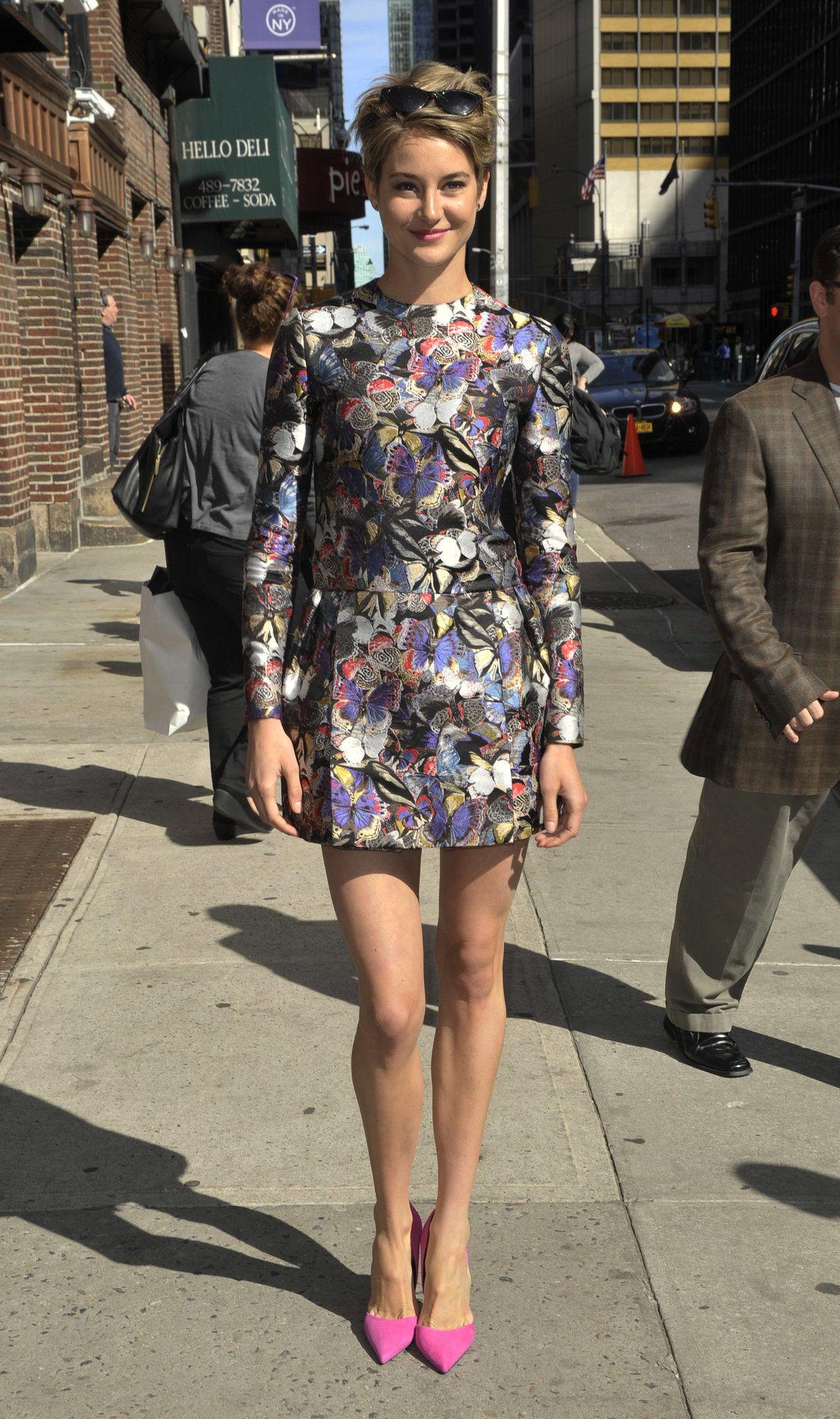 Shailene Woodley  wearing Valentino's butterfly print.