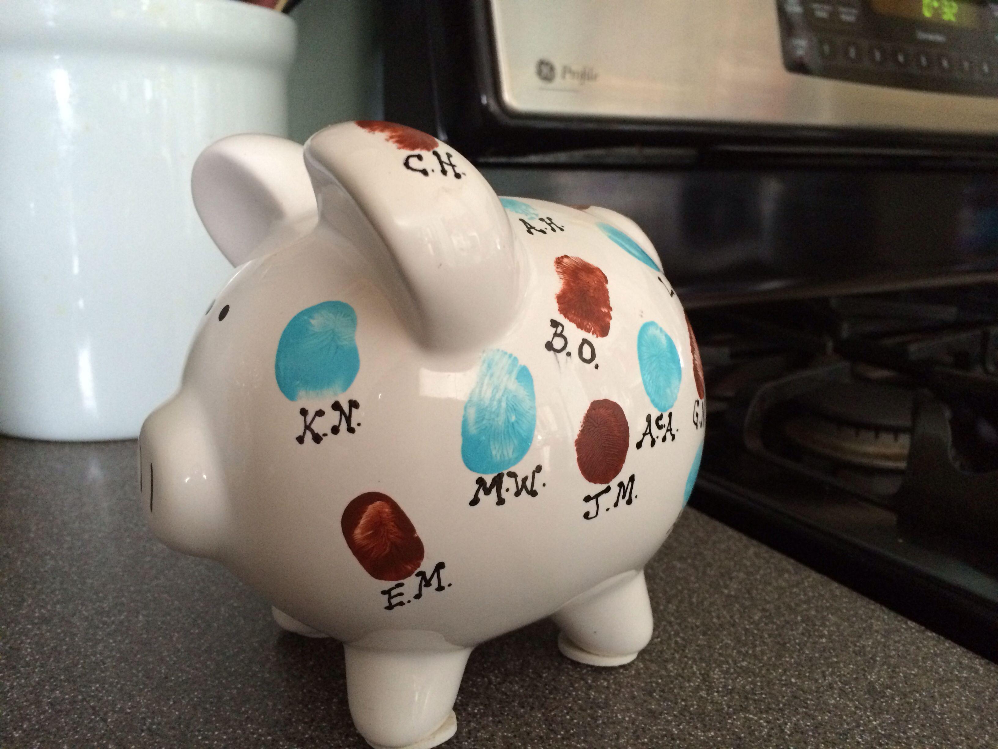 Baby Shower Gift For My Sons Kindergarten Teacher Thumbprints Of