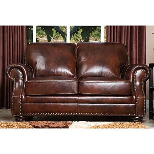 Abbyson Living Karington Hand Rubbed Leather Loveseat Check This Awesome Product By Going To The Link At The Imag With Images Love Seat Leather Loveseat Abbyson Living