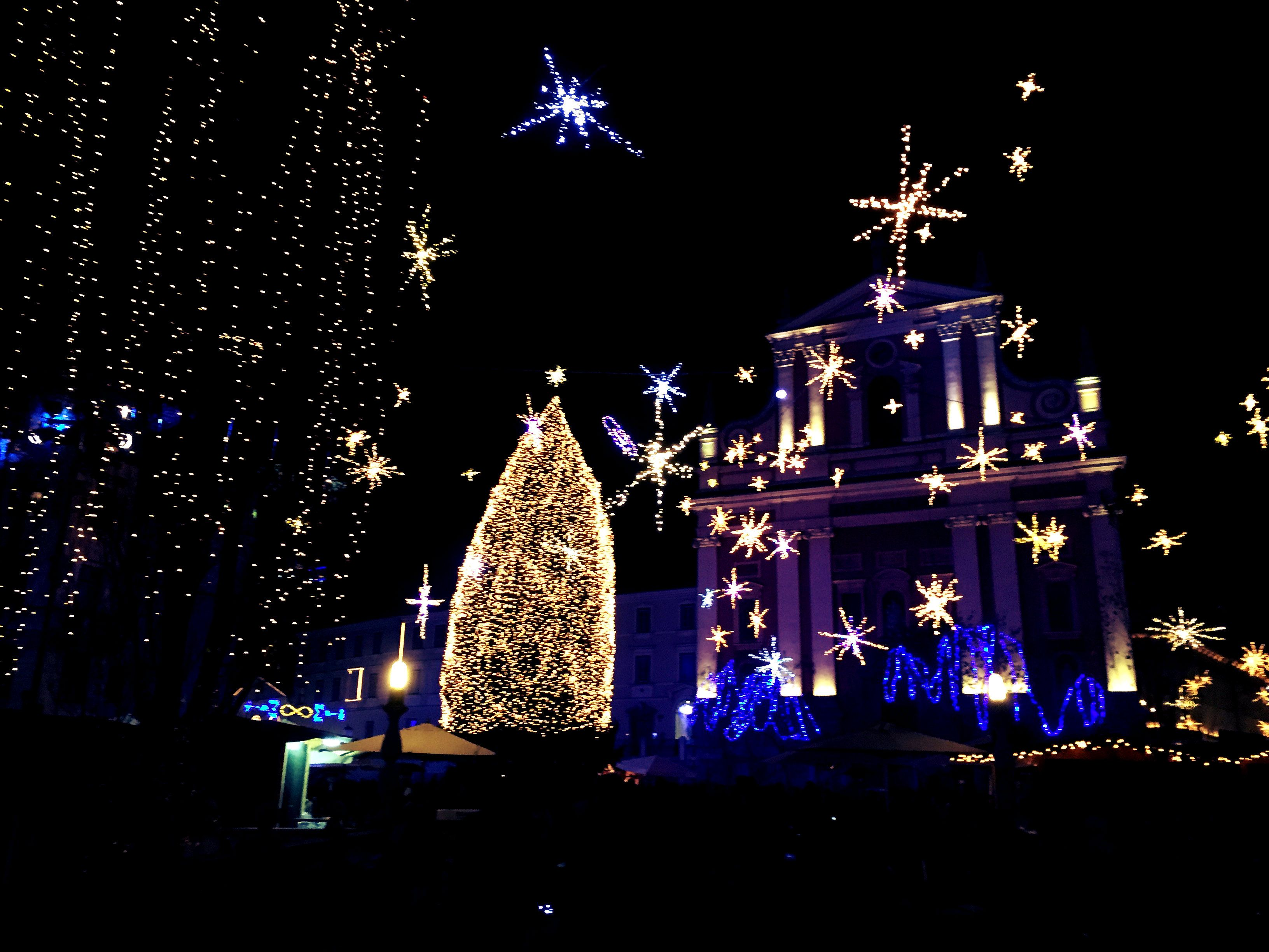 Christmas decoration in Ljubljana, Prešernov square #ljubljana #PresernovSquare#ChristmaJoy #ShristmasSpirit #love #december #ChristmasTree