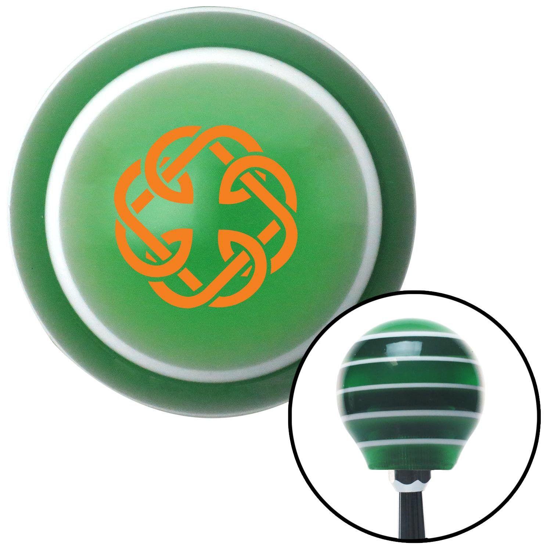 Orange Celtic Father Daughter Symbol Green Stripe Shift Knob With