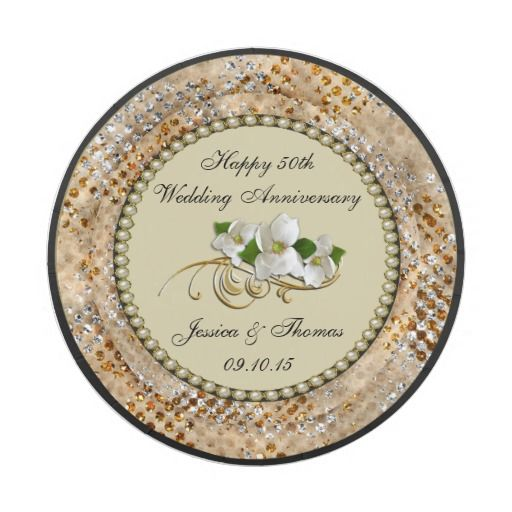 50th Golden Wedding Anniversary Paper Plate  sc 1 st  Pinterest & 50th Golden Wedding Anniversary Paper Plate | Anniversary ...