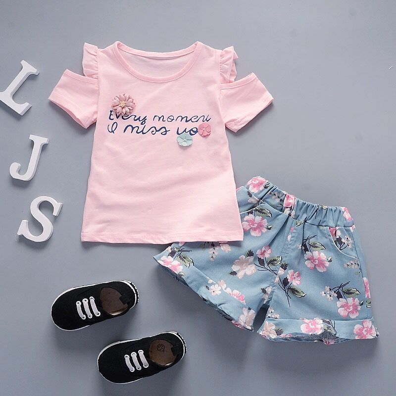 Mother & Kids 2018 Toddler Newborn Toddler Kids Baby Boys Clothes Summer Grey T-shirt Tops Hole Denim Pants Jeans Outfit Yu