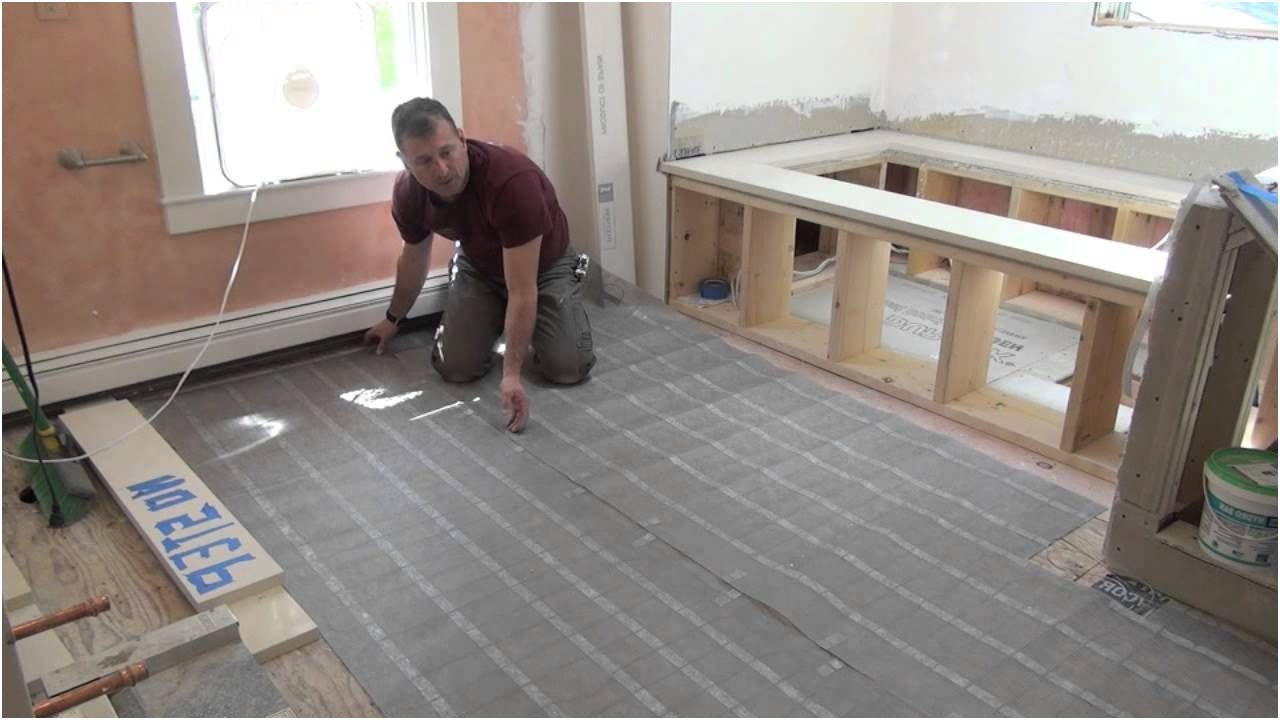 Remodeling A Bathroom Part 10 Electric Radiant Floor Heat Youtube Custom Youtube Bathroom Remodel Inspiration Design