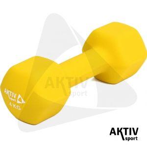 Neoprén kézi súlyzó 4 kg, melyet használhatsz fitneszhez, aerobikhoz egyaránt.
