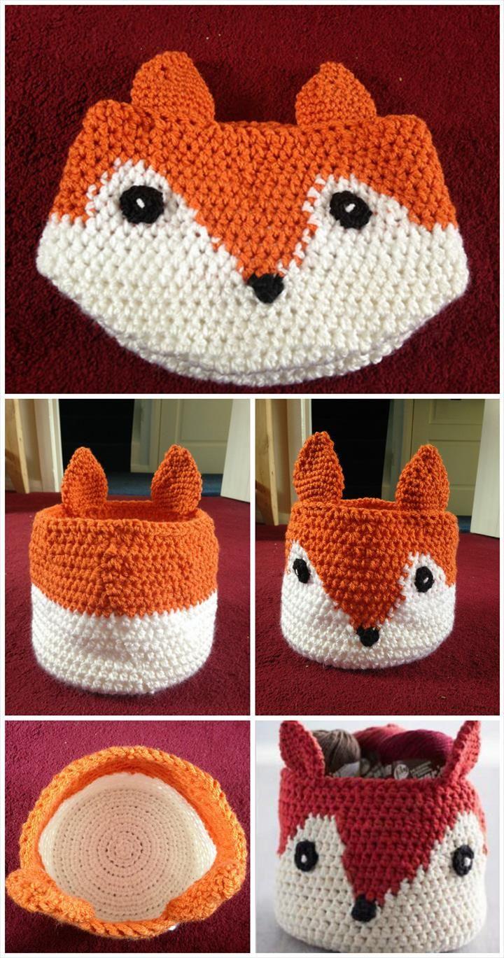 10 Free Crochet Basket Patterns for Beginners | Cosas bonitas ...