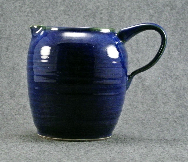 Sapphire Blue Pitcher / Creamer / Carafe. $30.00, via Etsy.