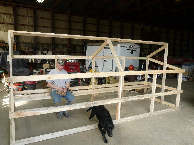 how to build a timber trailer cage