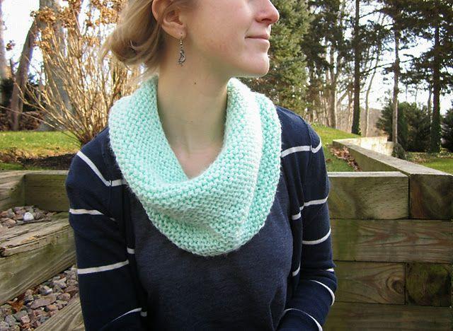 Wiseknits Free Pattern Mint Circle Scarf Knitting Pinterest
