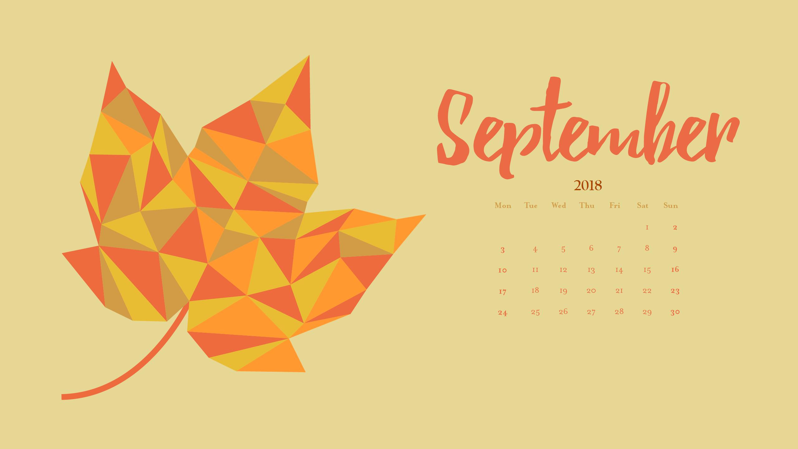 Beautiful September Calendar Wallpaper