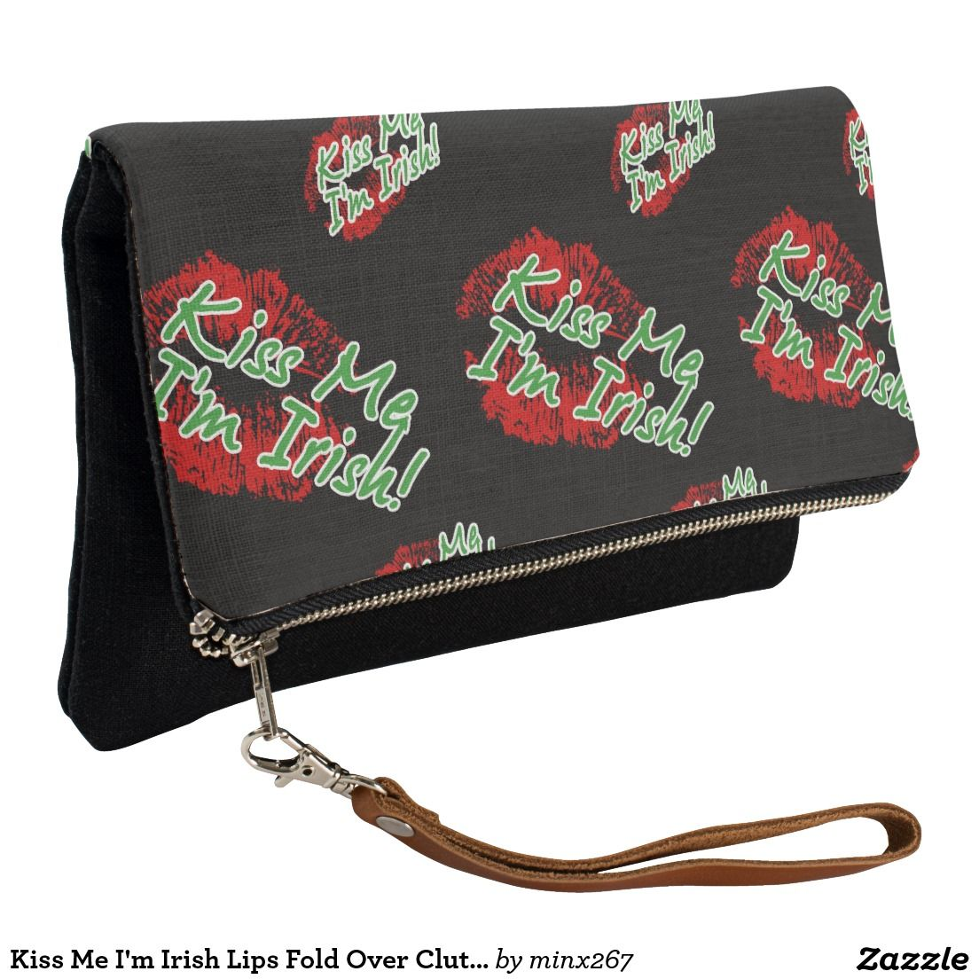 Personalized Kiss Me Im Irish Messenger Bag