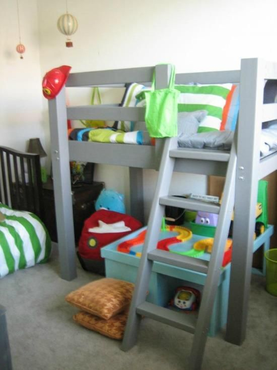 Free Woodworking Plans To Build A Twin Low Loft Bunk Bed Diy