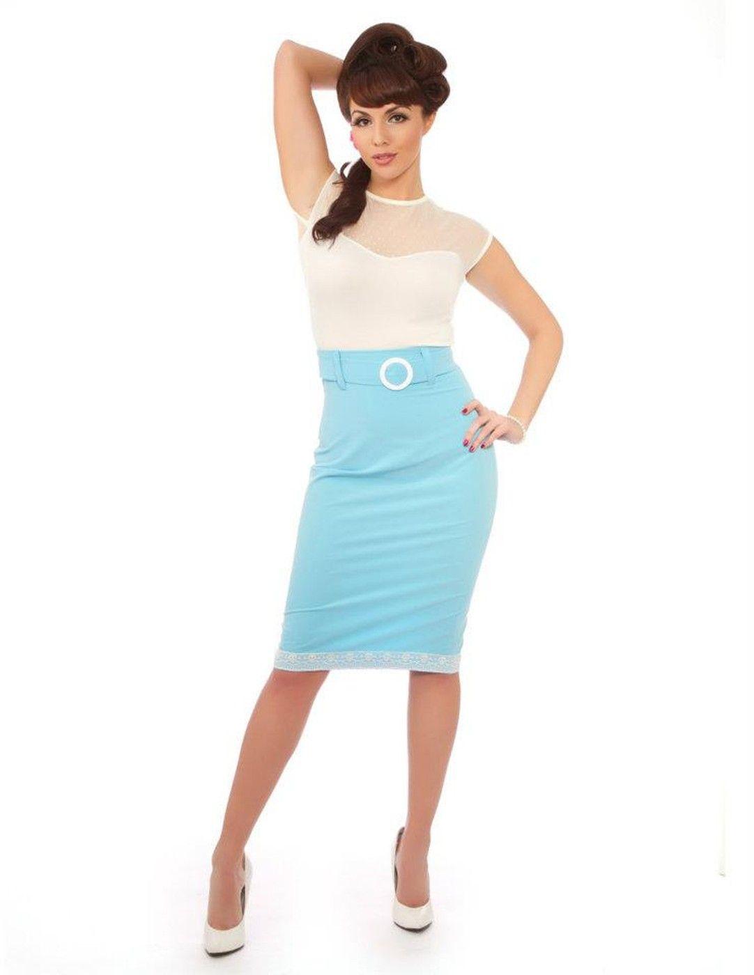 Retro Pin Up 50s Clothing Pencil Skirt Rockabilly