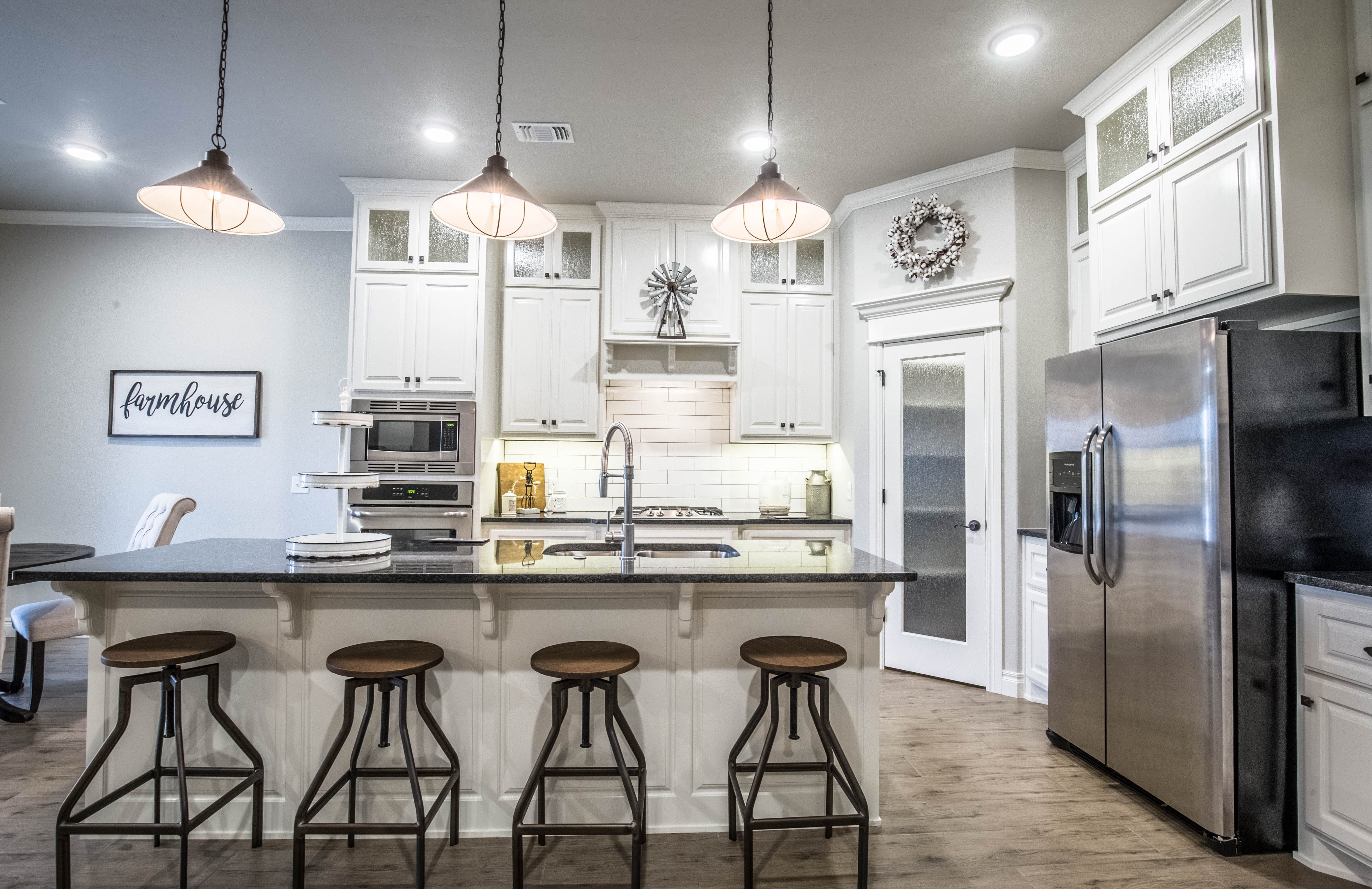 this light and bright kitchen is accented with farmhouse details cabinets to the ceiling with on kitchen cabinets to the ceiling id=32590