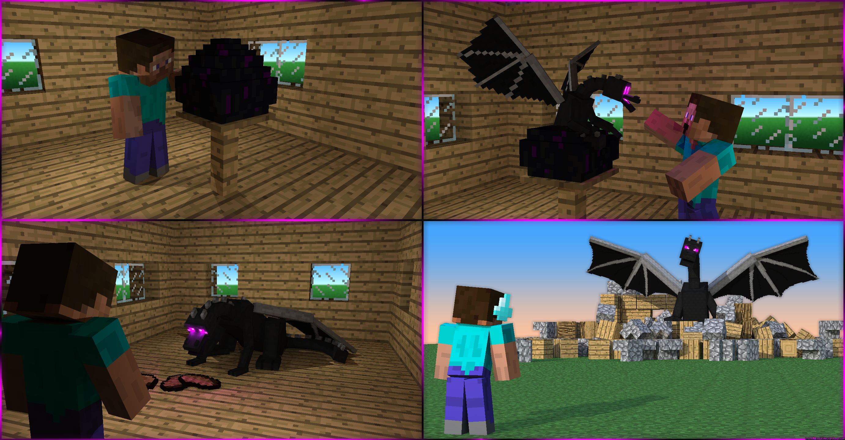 life with my pet ender dragon | minecraft | Pinterest