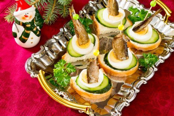 Рецепты новогоднего канапе