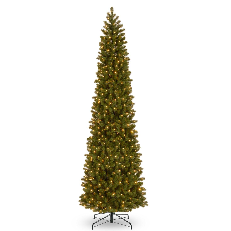 National Tree Company 12 Ft Led Douglas Fir Slim Artificial Christmas Tree Ft Slim Artificial Christmas Trees Slim Christmas Tree Christmas Tree Clear Lights