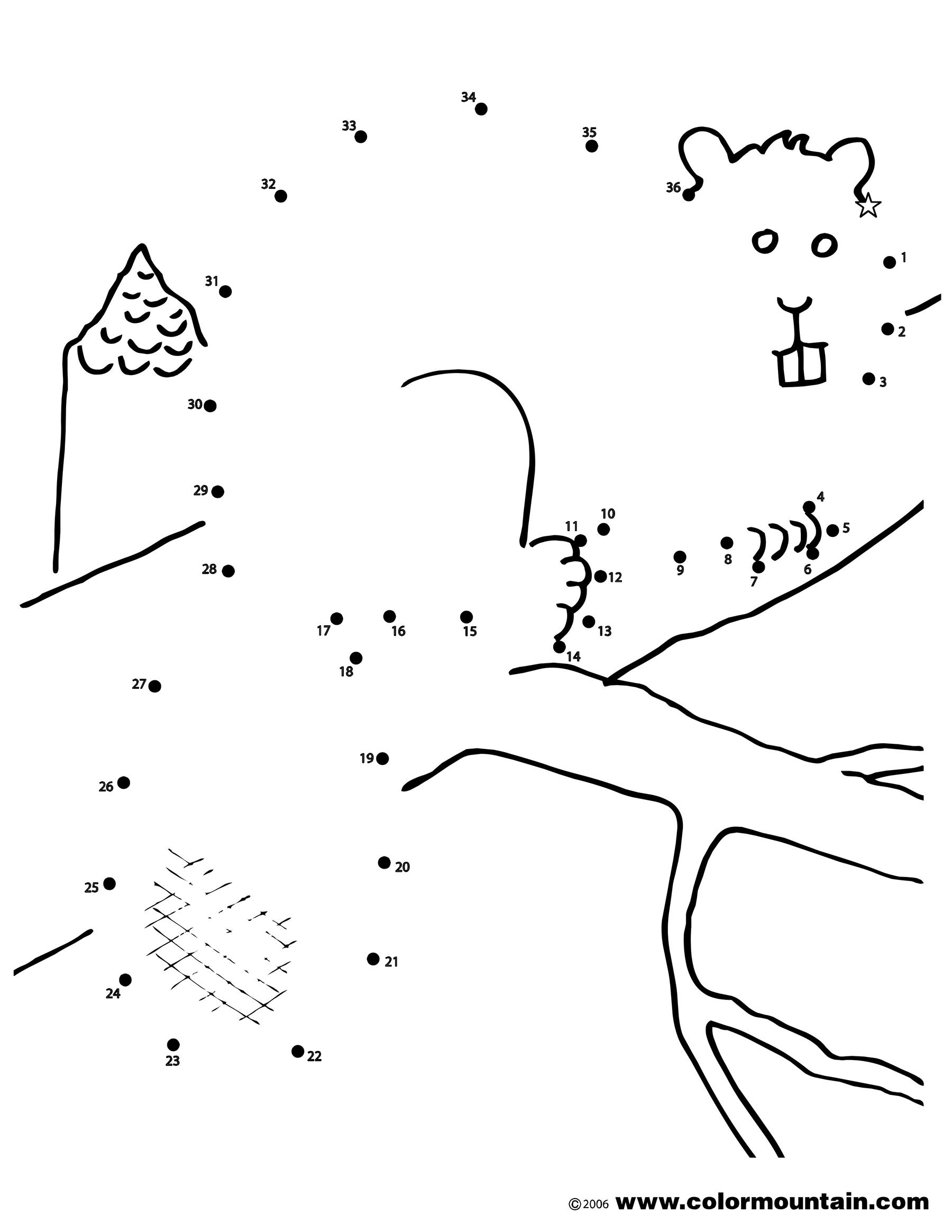 Beaver Activity Coloring Page
