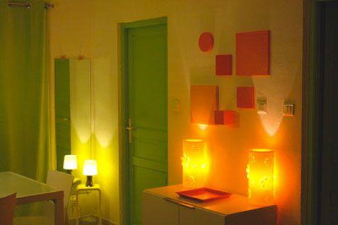 Couleur salle à manger peinture jaune porte verte - peindre un encadrement de porte