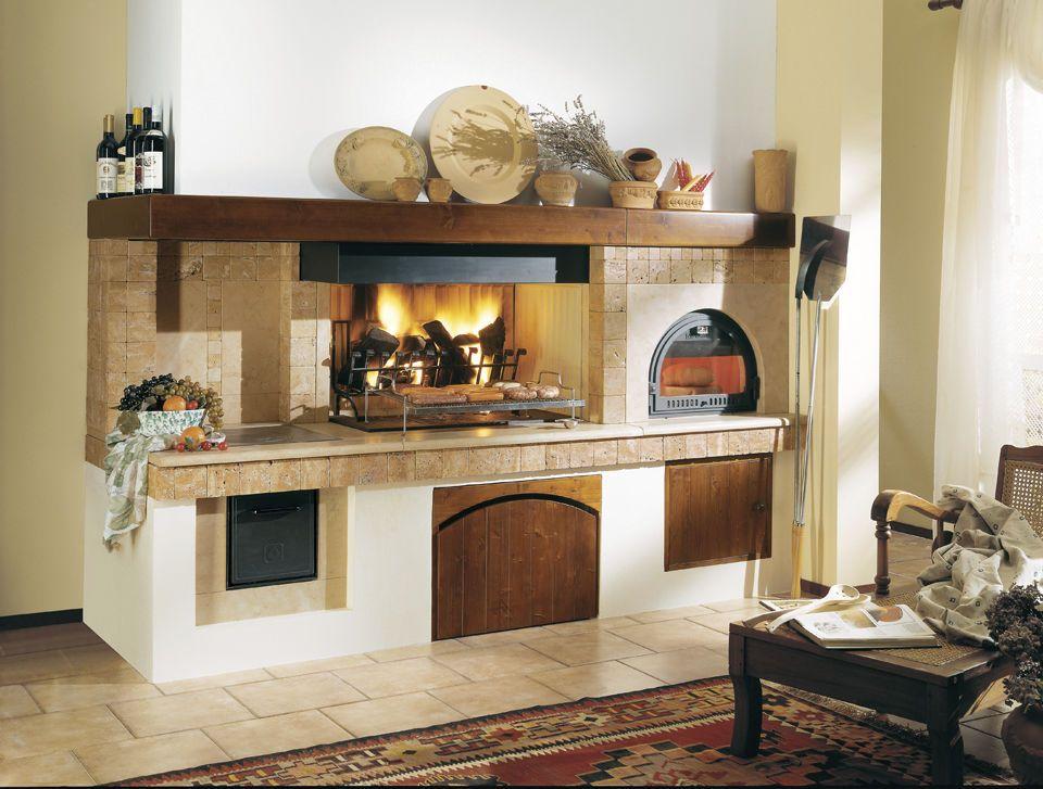 camino con forno a legna rustico - cerca con google | cucine ... - Cucina Con Forno A Legna