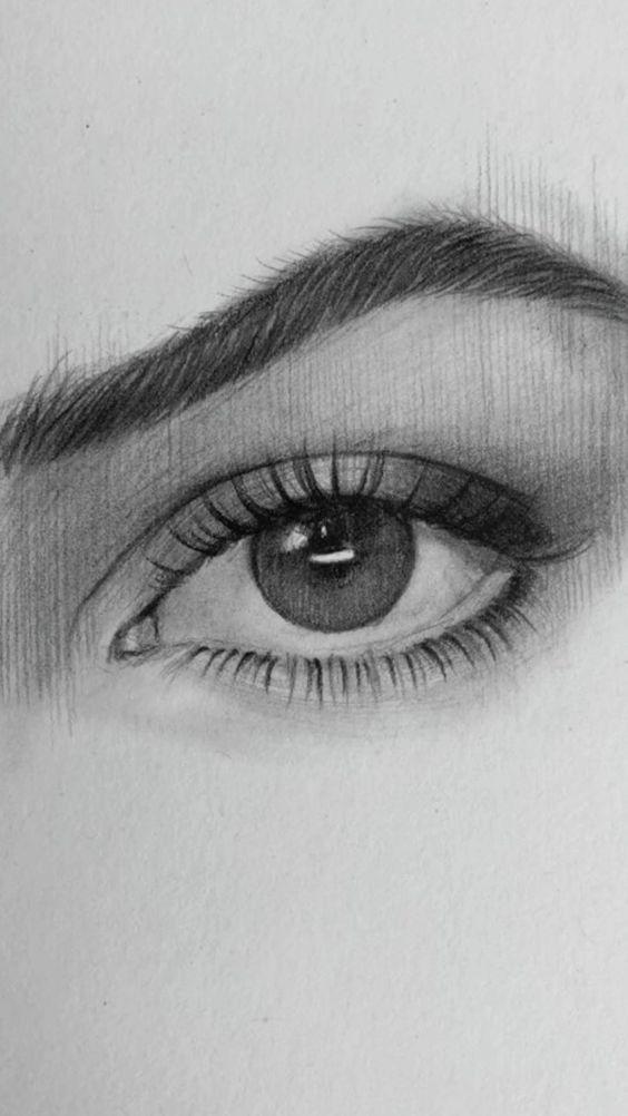52 Easy Pencil Drawing Eye Ideas Drawing Easy Eye Pencil