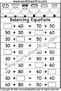 Balancing Equations – 1 Worksheet | Balancing equations ...