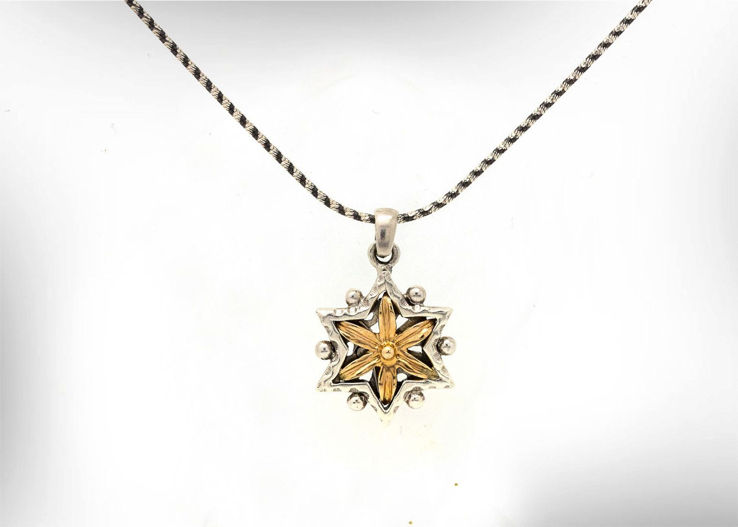 l diamond dipped of on gold star pendant rolo necklace magen david necklaces