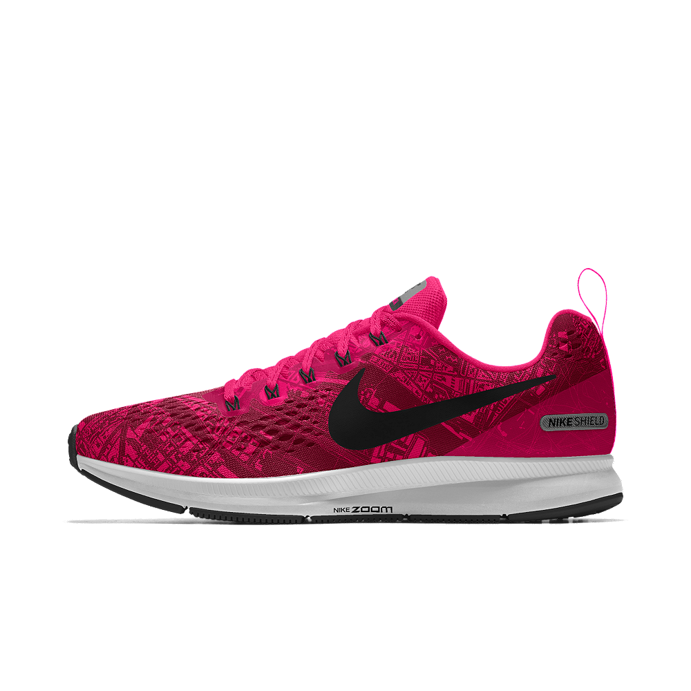 ea4e717d014 Nike Air Zoom Pegasus 34 Shield iD Women s Running Shoe Size 11.5 (Pink)