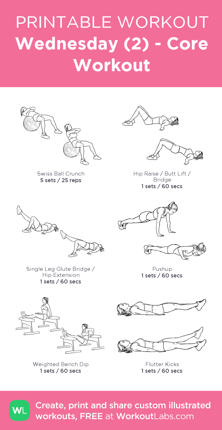 Wednesday 2 Core Workout Workouts Exercise Workout