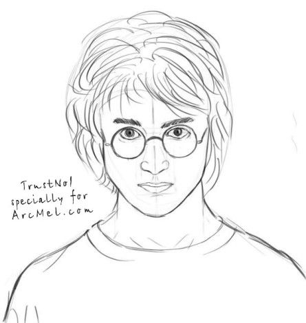 How To Draw Harry Potter Step 6 Drawing