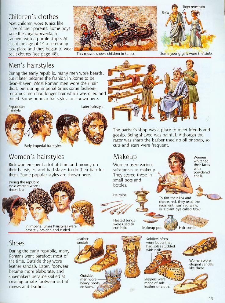 Roman clothes homework help