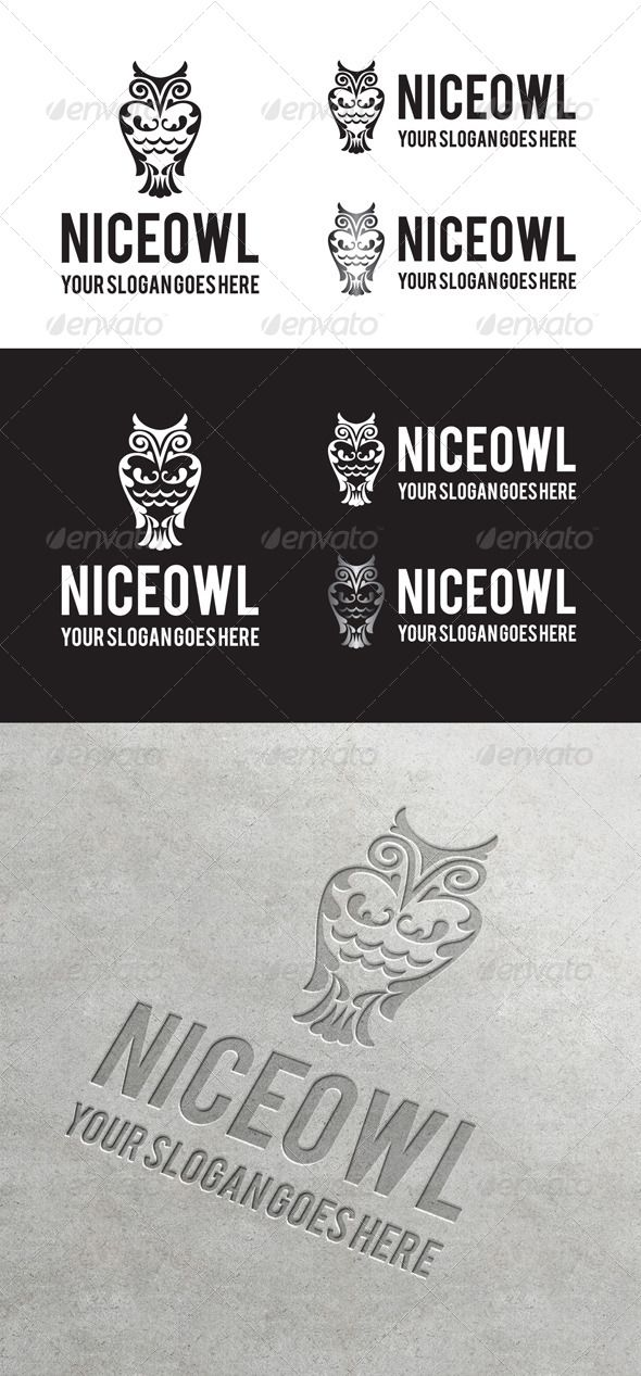 Niceowl Logo Geometric logo, Logo templates, Vintage