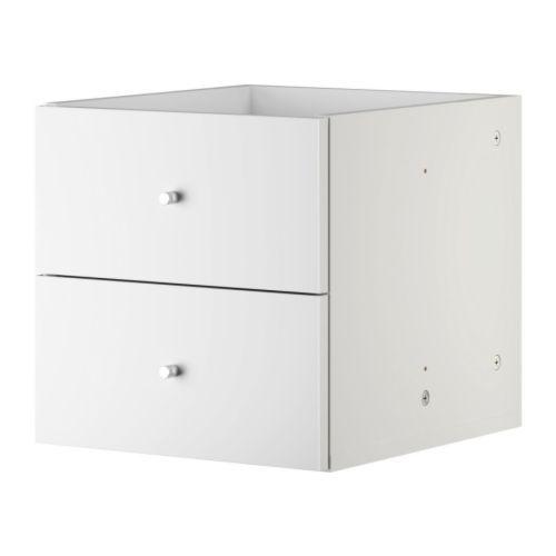 Bloc 2 Tiroirs Blancs Pour Etagere Expedit Chez Ikea Ikea Drawers Living Room Furniture Sofas Ikea