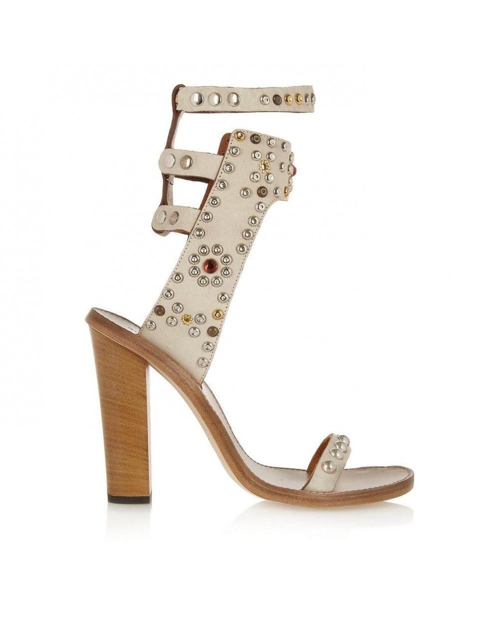 eb894586f83 Sale Isabel Marant Carol Studded Leather Sandals Shoes Online ...